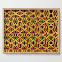 African kente pattern 6 Serving Tray