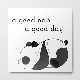 the sleeping panda Metal Print