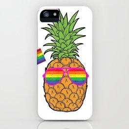 Pineapple Rainbow Flag Hawaiian Gay Pride LGBT Tshirt Gifts iPhone Case