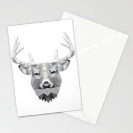 Boho poly deer Stationery Cards