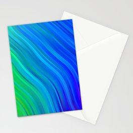 stripes wave pattern 1 stdv Stationery Cards