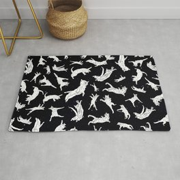 Flying Space Cats Rug