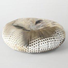 Adorable prairie dog, halftone Floor Pillow