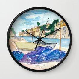 Mallorca Baleares Harbour Scene Wall Clock