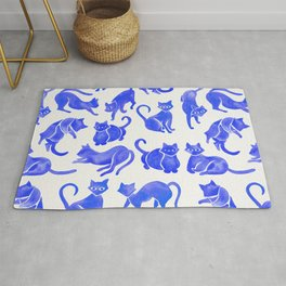 Cat Positions – Blue Palette Rug