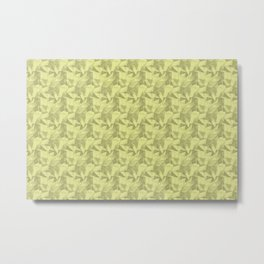 Abstract Geometrical Triangle Patterns 2 Lime Green, Lime Mousse, Bright Cactus Green, Celery Green Metal Print