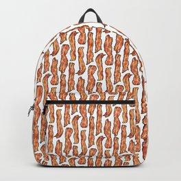 Bacon breakfast on white Backpack