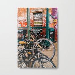 Brooklyn Bike II Metal Print