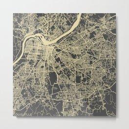 Louisville map Metal Print