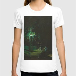 Central Park, Summer Night, Riverside Drive landscape by George Wesley Bellows T-shirt