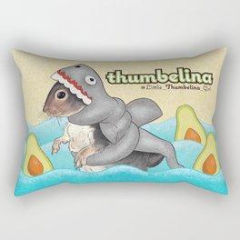 Little Thumbelina Girl: avocado shark Rectangular Pillow