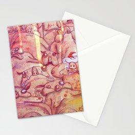 Pig sauna Stationery Cards