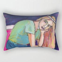 The Weary Lightworker Rectangular Pillow