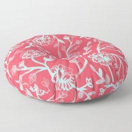 Watercolor Peonies - Guava Mint Floor Pillow