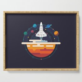 Space Shuttle & Solar System Serving Tray