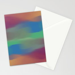 Abstract paint cool color Stationery Cards