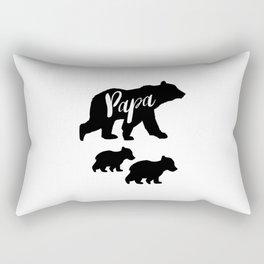 Papa Bear T Shirt with Two Cubs Rectangular Pillow