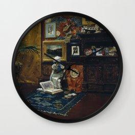 William Merritt Chase - Studio Interior - Digital Remastered Edition Wall Clock