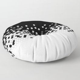 Flat Tech Camouflage Black and White Floor Pillow