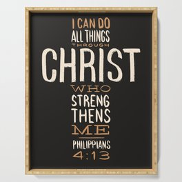 I Can Do All Things Through Christ Bible Verse Serving Tray