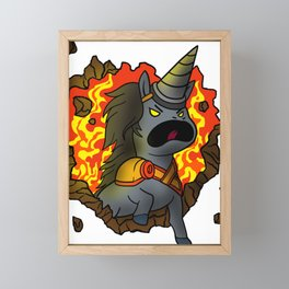 Unicorn Horse Fabled-Beast  Fauna Myth Animal Gift Framed Mini Art Print