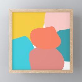 Abstract pastel collors Framed Mini Art Print