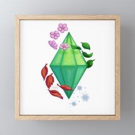 Seasons Plumbob Framed Mini Art Print