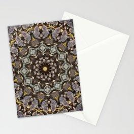 Mushroom mandala 5 Stationery Cards