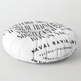 30   |Naval Ravikant Quotes Series  | 190618 Floor Pillow