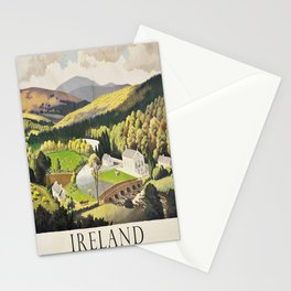 retro Ireland poster Stationery Cards