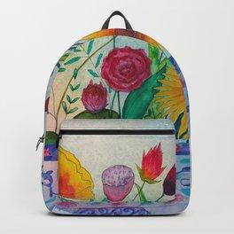 Flowers Pot in Sunlight Backpack