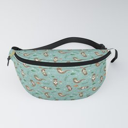 Kawaii Otters Playing Underwater Fanny Pack