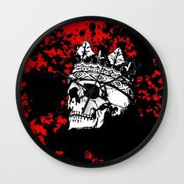 Skulking Skull King Wall Clock