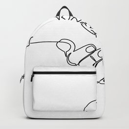 Lines heart in hand Backpack