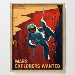 NASA Recruitment Poster Explorers Wanted Serving Tray