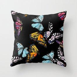 Monarch Butterly Throw Pillow