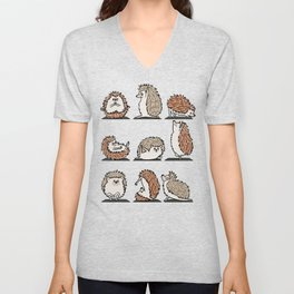 Hedgehog Yoga Unisex V-Neck