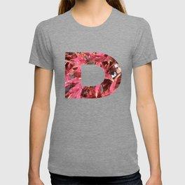 """D"" Initial Leaves T-shirt"