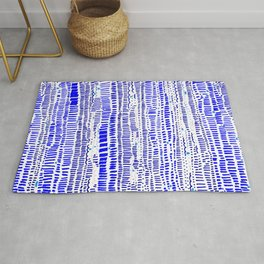 Textural lines and dashes Rug