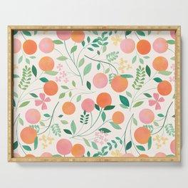 Vanilla Peaches Serving Tray