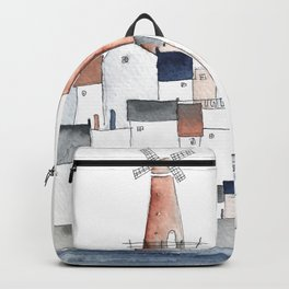 harbortown and windmill Backpack