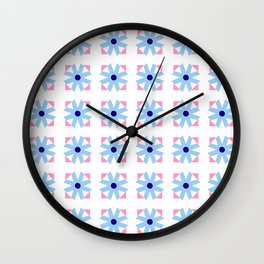 rosace and star 2 Wall Clock
