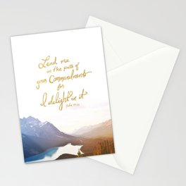 Psalm 119:35 Stationery Cards