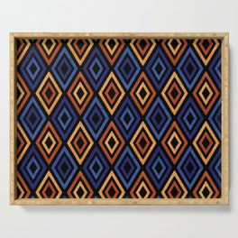 Tribal Diamond Pattern Serving Tray