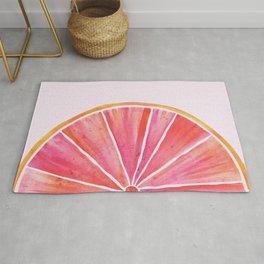 Sunny Grapefruit Watercolor Rug