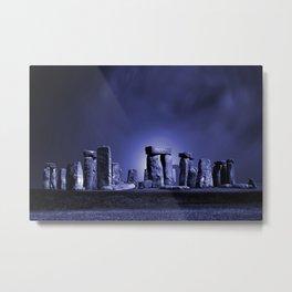 Strange Night at Stonehenge Metal Print