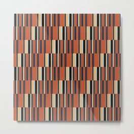offset stripe small-orange Metal Print