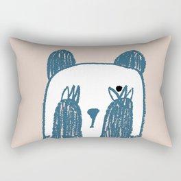 No peeking panda Rectangular Pillow