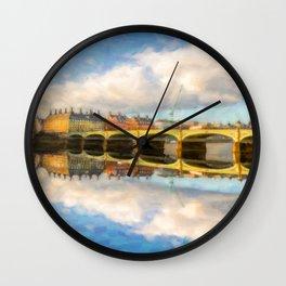 Westminster Bridge London Wall Clock