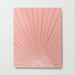 Good Morning Son - Piggy Metal Print